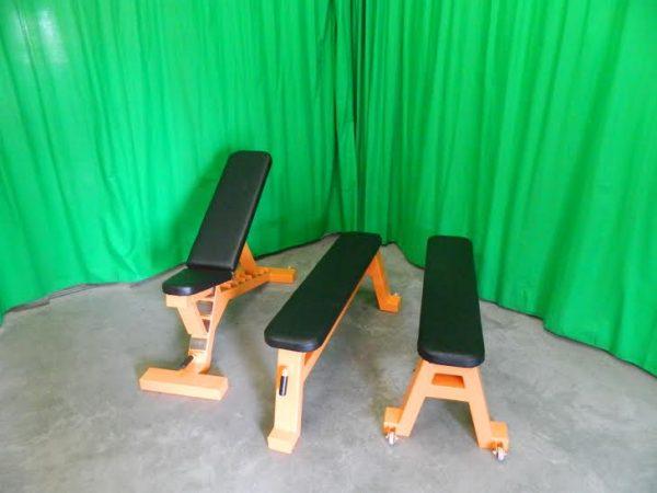 orange J1 flat bench