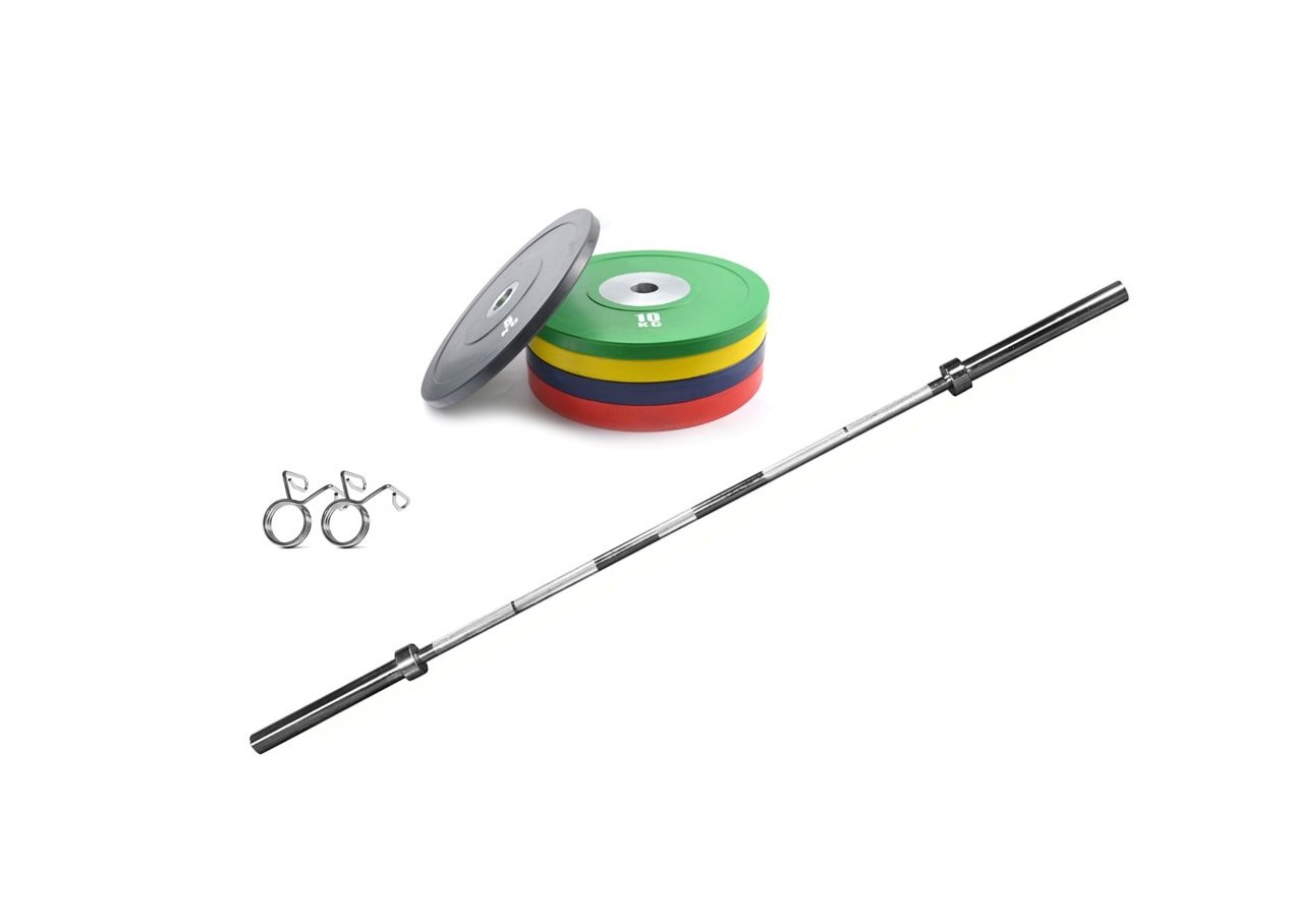 urethane-competition-bumper-plate-set-with-barbell