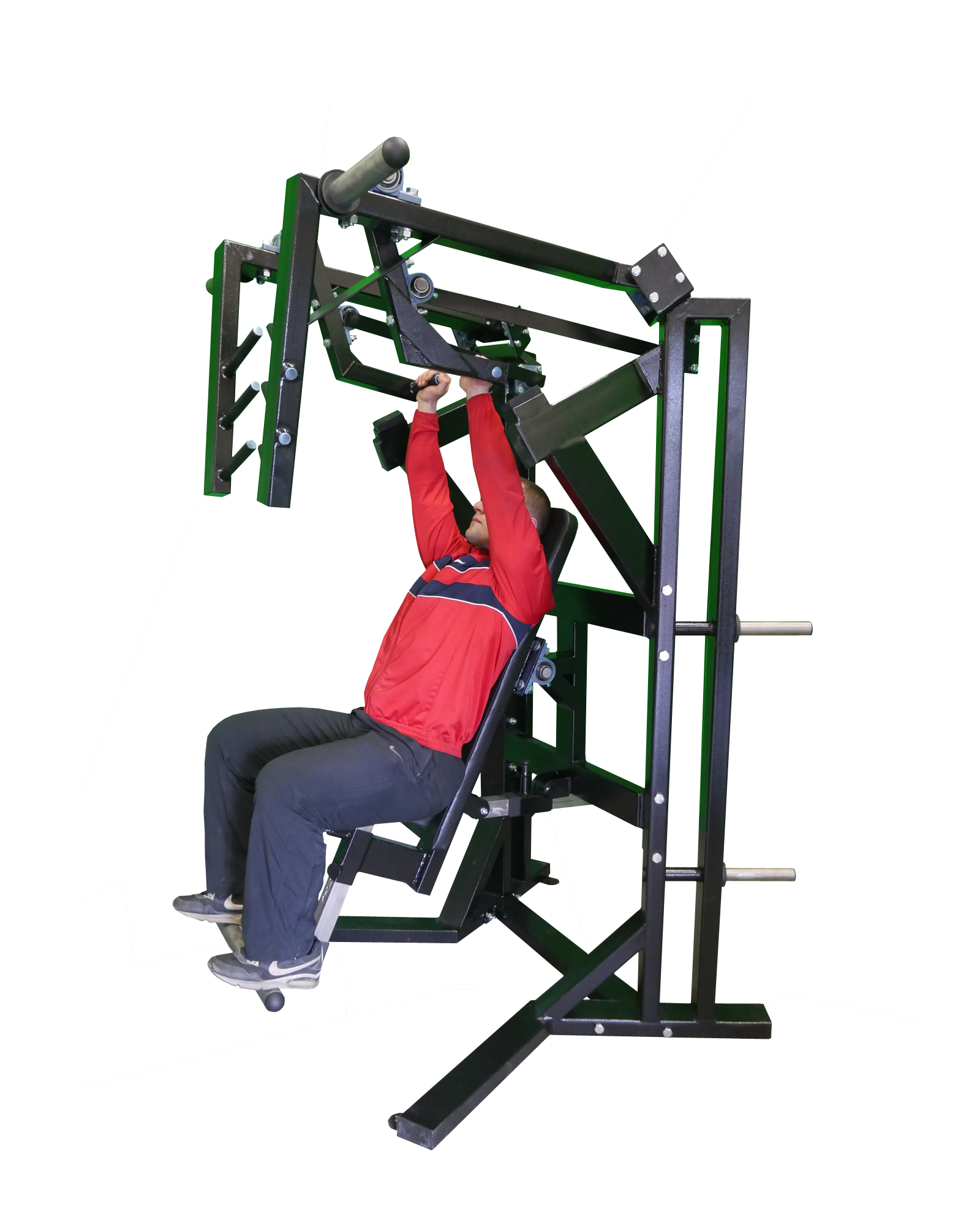 Seated-Chest-Shoulder-Press-Machine-with-adjustable-seat-A6XX2P