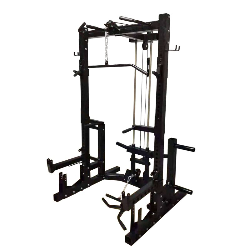 commercial-half-rack-with-lat-pulldown-low-row
