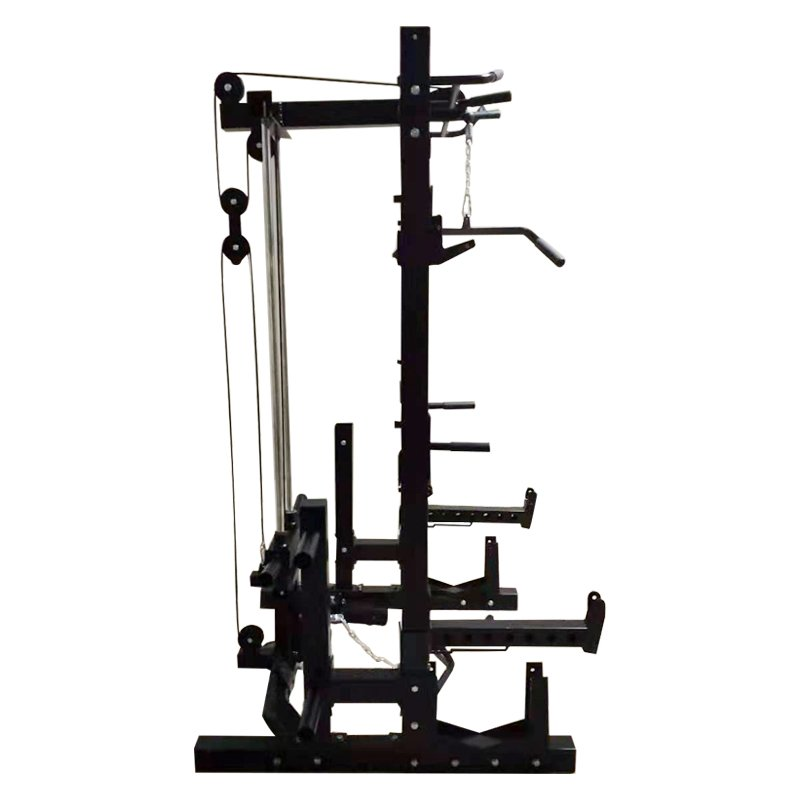 multifunctional-commercial-half-rack-with-lat-pulldown-low-row