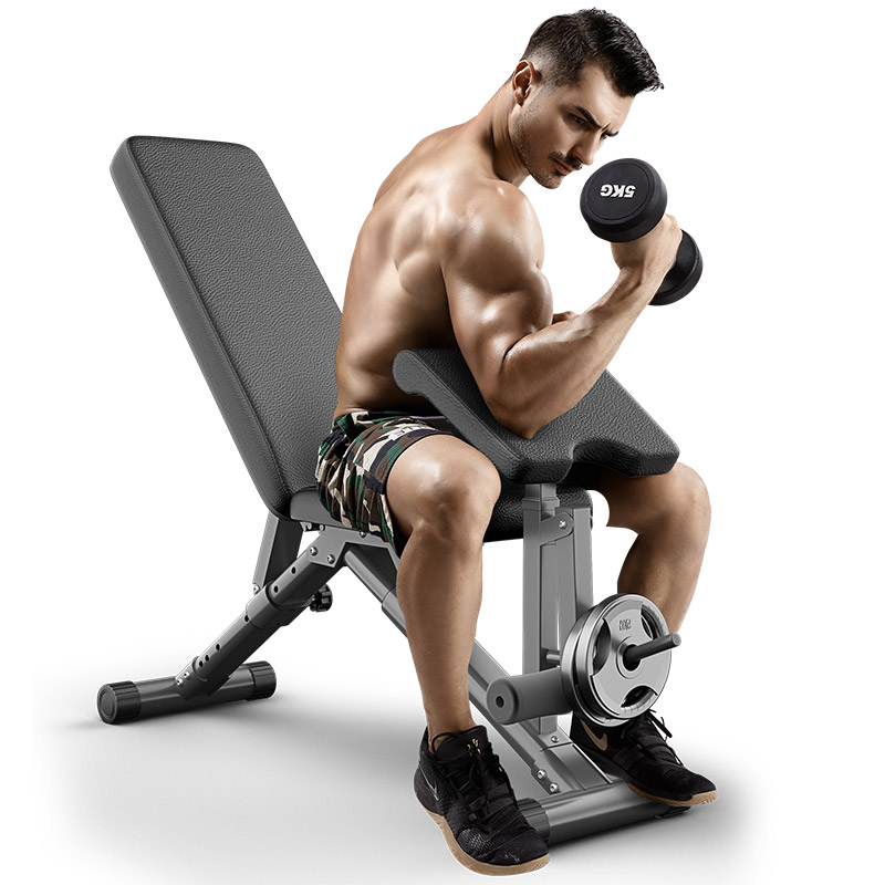 Adjustable-bench-with-preacher-curl