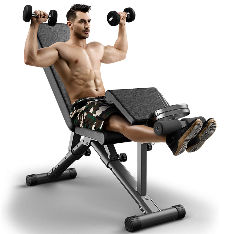 Fully-adjustable-bench-with-preacher-curl-and-let-extension