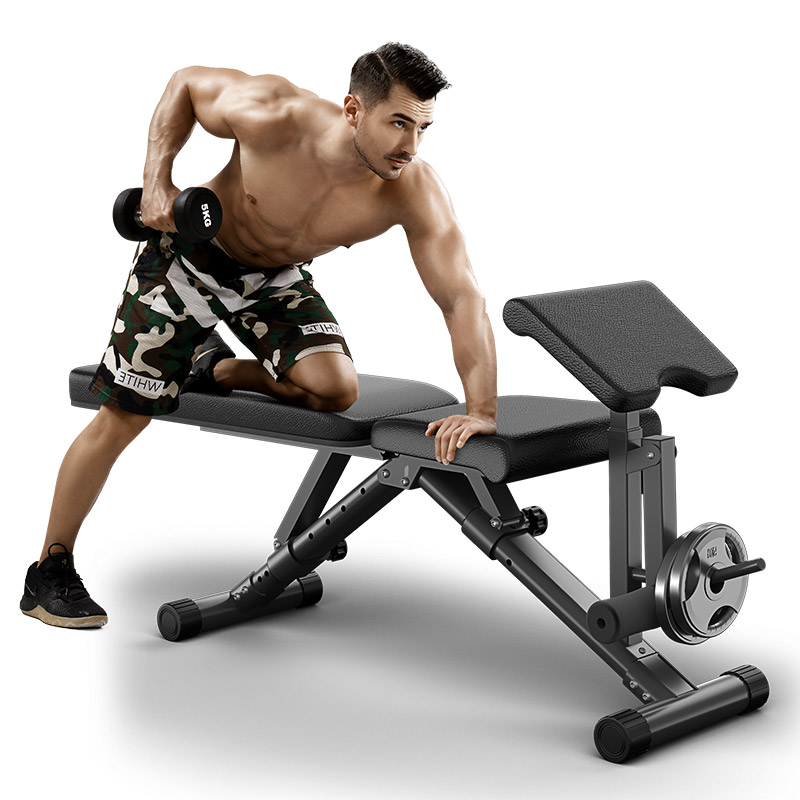 Fully-adjustable-home-bench-with-preacher-curl-and-let-extension