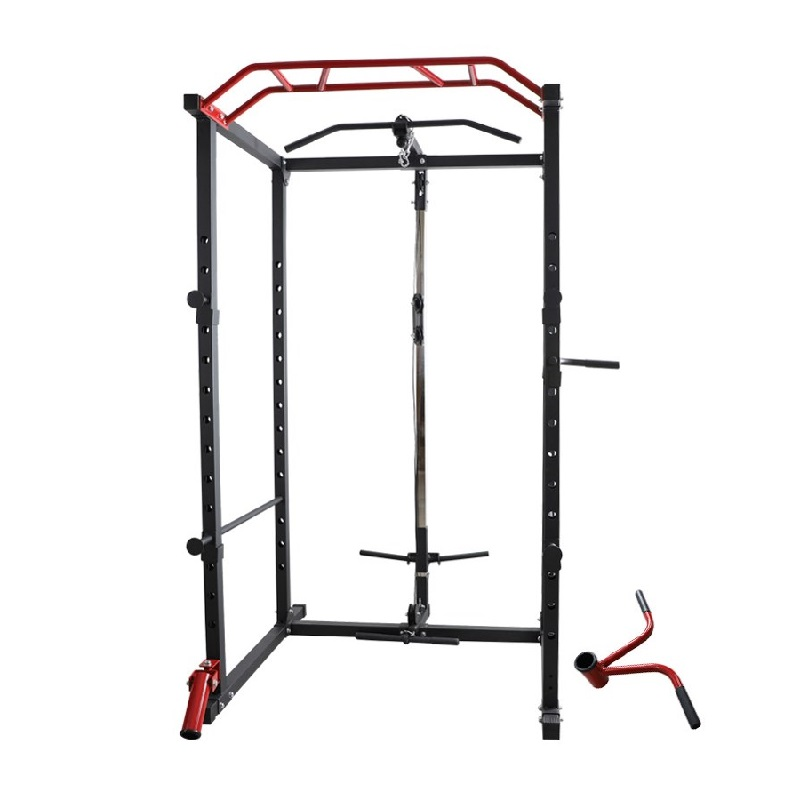 Power-rack-with-pulley-system